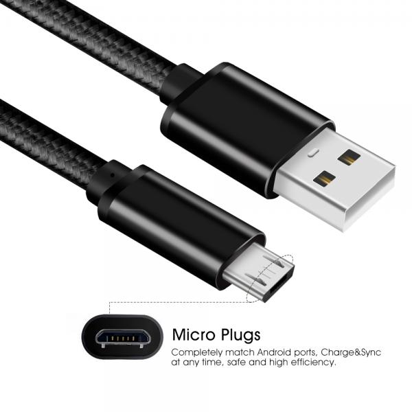 Picture of Micro to USB2.0 A/M Nylon(black)